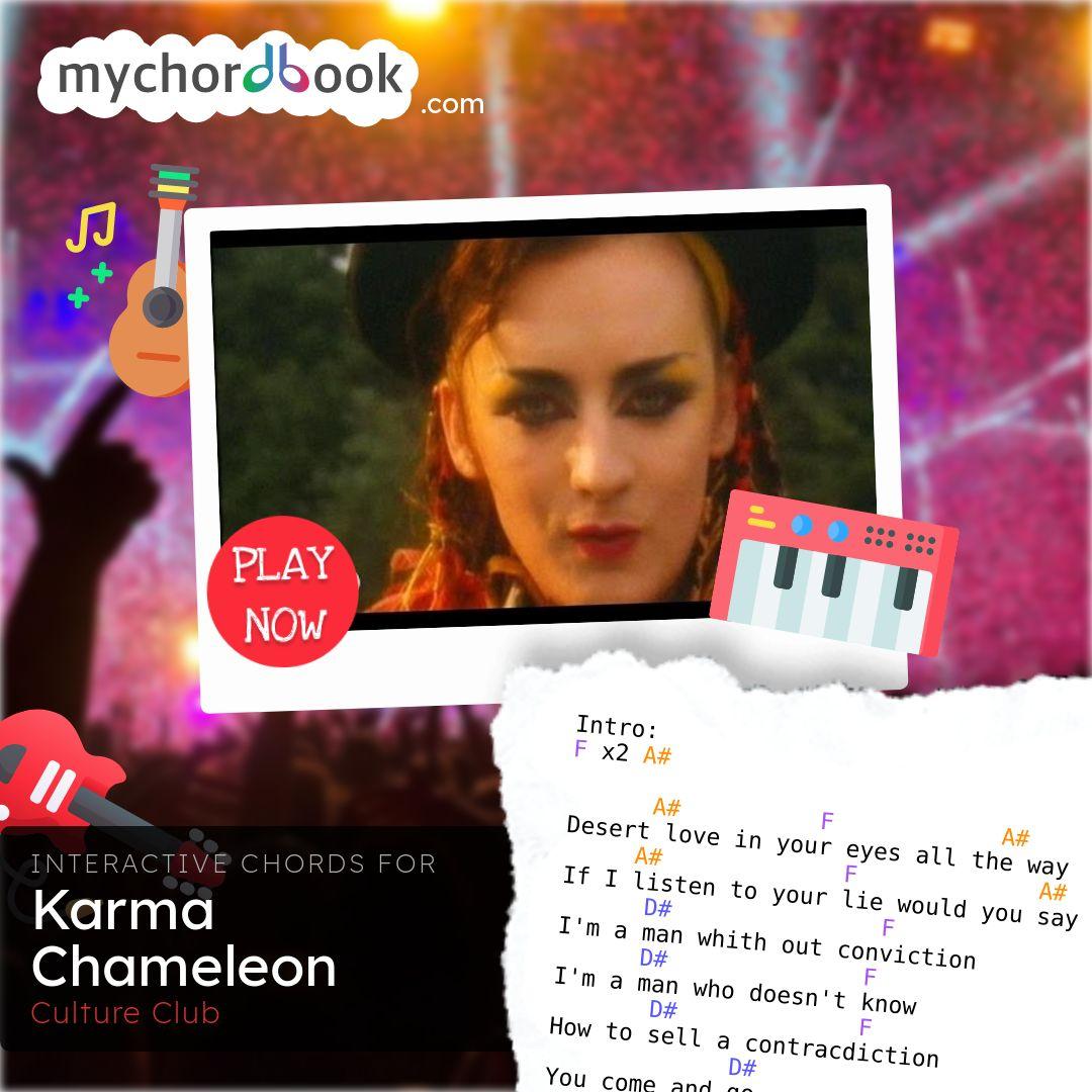 Culture Club   Karma Chameleon Chords