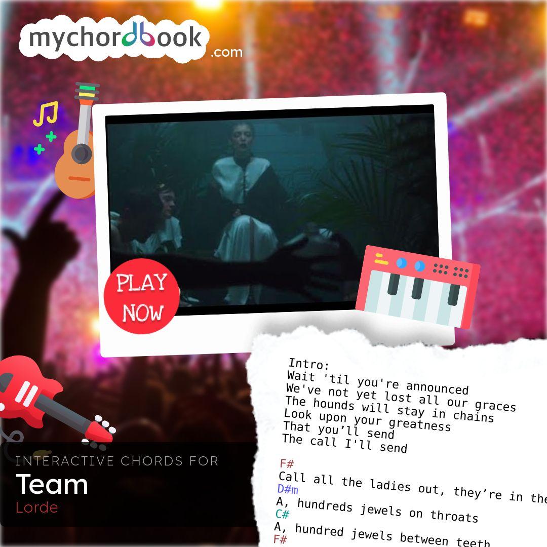 Lorde   Team Chords